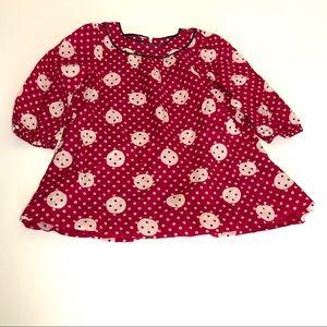Gap Baby Red Polka Dot Cotton Dress 18-24 months